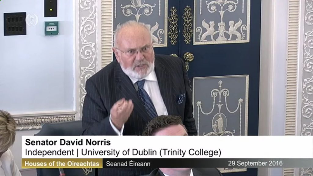 An Taoiseach Enda Kenny's Address to the Seanad and David Norris's Contribution - 29th September 2016