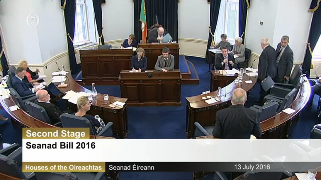 Seanad Bill 2016 – Second Stage Debate – 13th July 2016