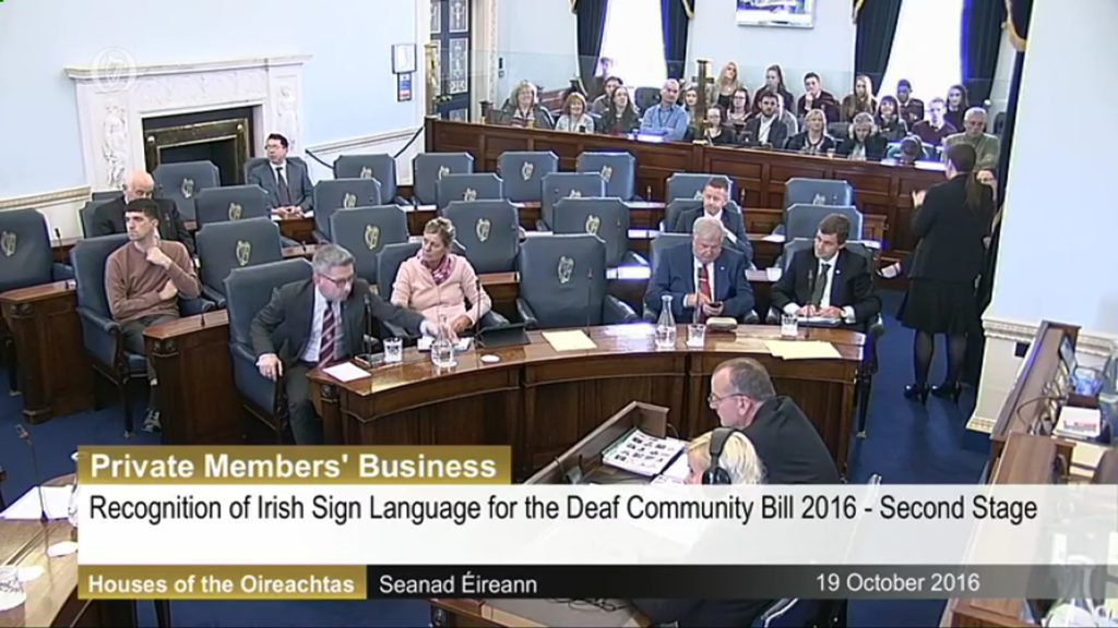 Recognition of Irish Sign Language Bill for the Deaf Community Bill 2016 - 19th October 2016