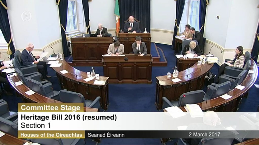 Heritage Bill Committee Stage Resumed – 2 nd March 2017