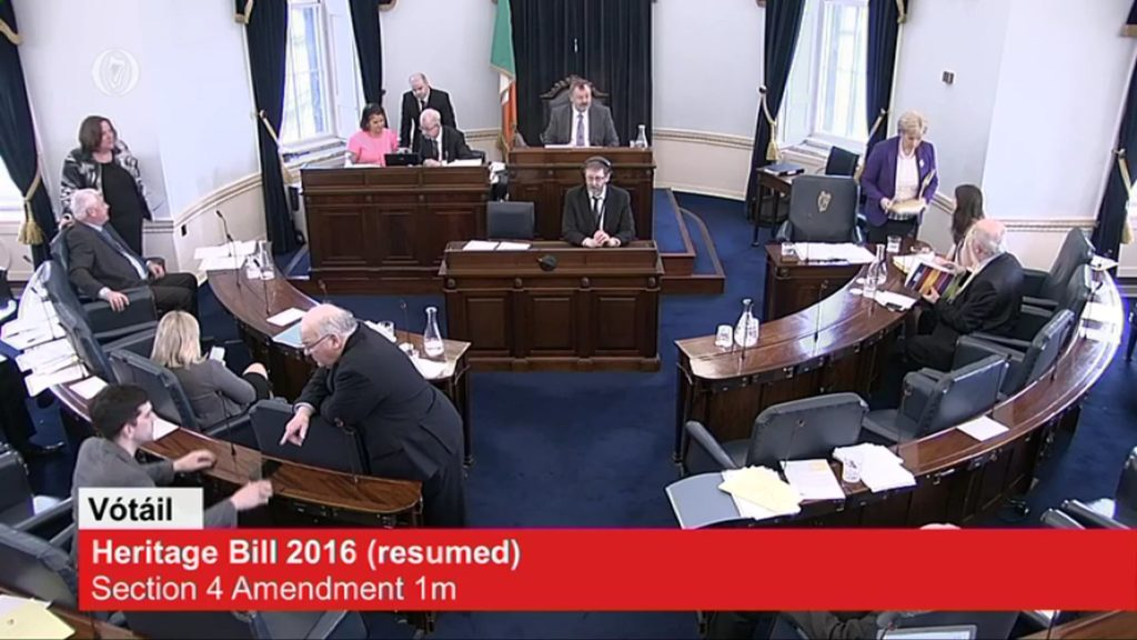 Heritage Bill Committee Stage Resumed – 29 th March 2017