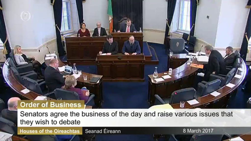 Order of Business – 8th March 2017