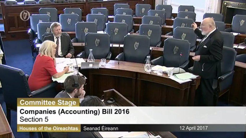 12 th April 2017 - Companies (Amendment) Bill 2017 – Second Stage Discussion.
