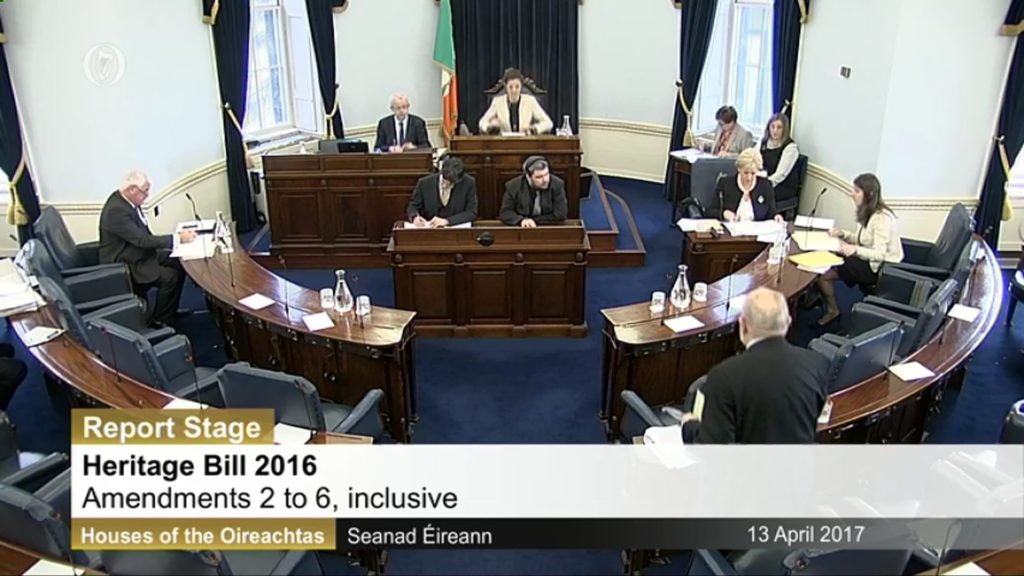 13th April 2017 – Heritage Bill 2016 – Report and Final Stages.