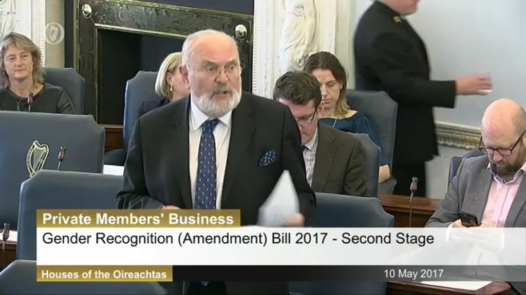 10th May 2017 Gender Recognition (Amendment) Bill 2017. Second Stage Debate.  08:49