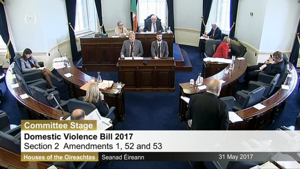 31st May 2017 – Domestic Violence Bill 2017. Committee Stage (1)