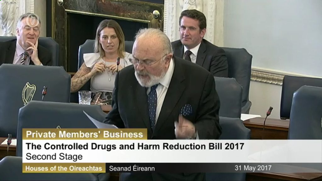31st May 2017 – Controlled Drugs and Harm Reduction Bill 2017 – Second Stage Discussion
