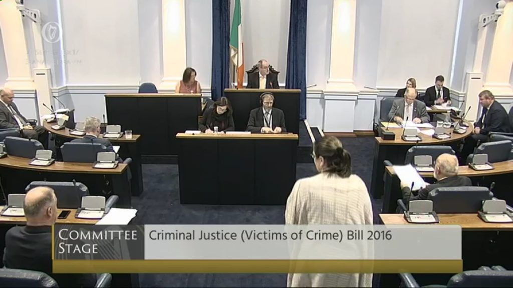 Criminal Justice (Victims of Crime) Bill 2016 Committee Stage resumed. 27th September 2017
