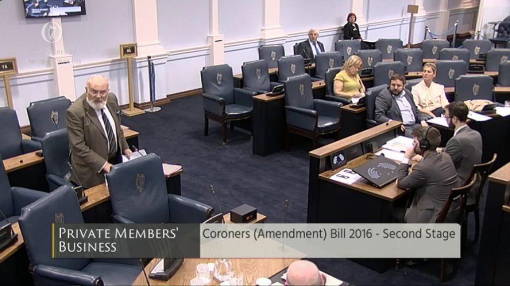 Coroners (Amendment) Bill 2016 - Second Stage Debate - 18th October 2017