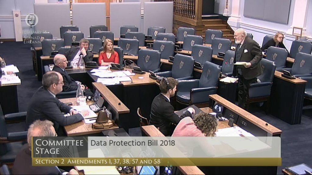 Data Protection Bill 2018: Committee Stage